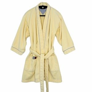 Tommy Hilfiger thick terrycloth wrap spa robe